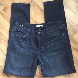CAbi Jeans Dark Wash Slim Fit size 12